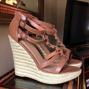 Wild Diva Lounge Espadrille Wedge Sandals